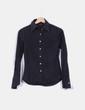 Camisa negra manga larga Benetton