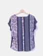 Conjunto top y pantalón estampado azul marino Jacqueline de Yong