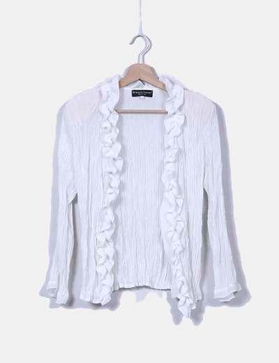 Camisa blanca plisada  Mª Angeles García