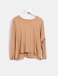 Camiseta camel con abalorios oversize The Hip Tee