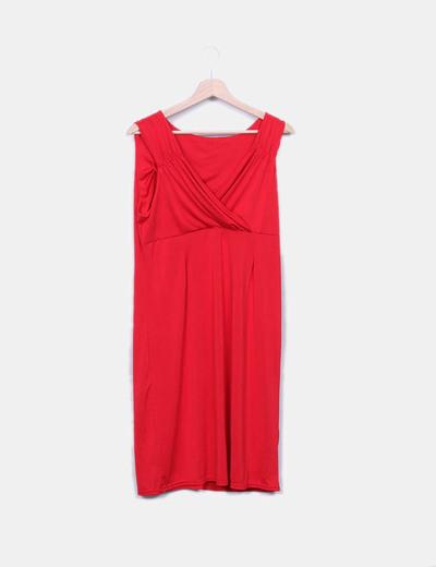 Vestido fluido rojo NoName