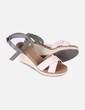 Sandales deux couleurs compensées Oysho