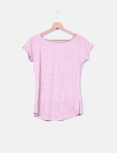 Top rosa animal print con tachas