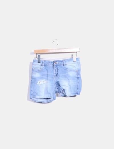 Pantalón corto vaquero Zara