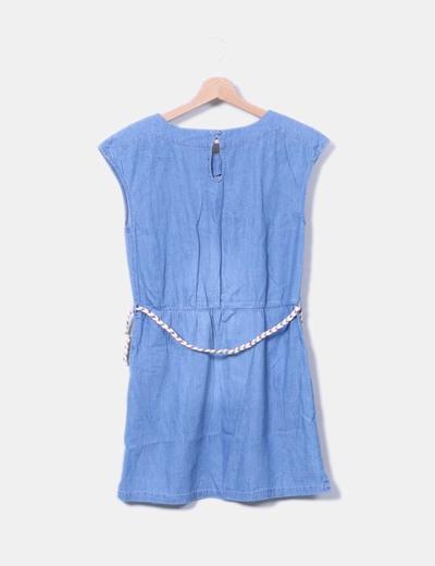 Vestido denim manga sisa