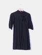 Vestido negro manga francesa con lazo Suiteblanco