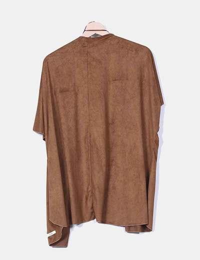 Kimono antelina marron