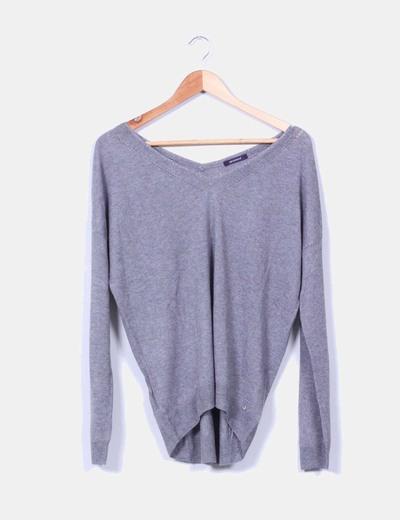Jersey gris escote pico Promod