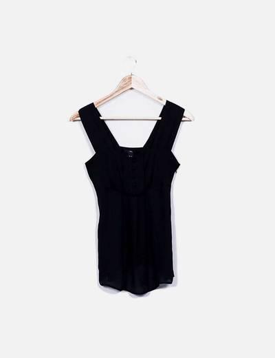 Blusa fluida negra H&M