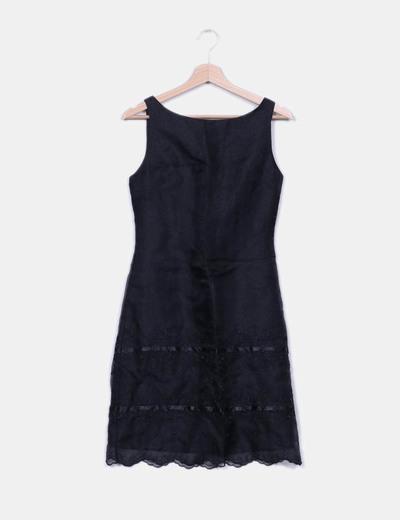 Vestido midi negro irisado El Corte Inglés