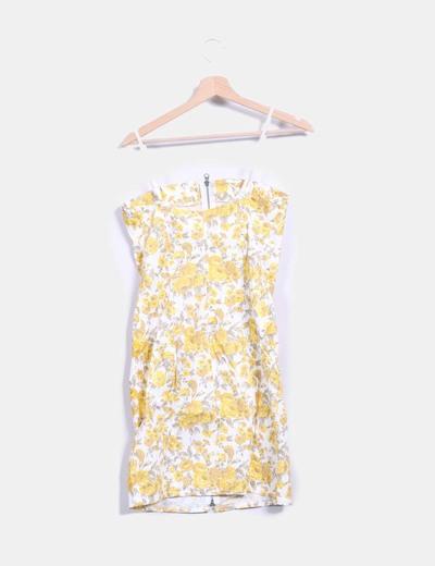 NoName Robe jaune avec fermeture éclair à fleurs (réduction 88%) - Micolet 146d25ca9537