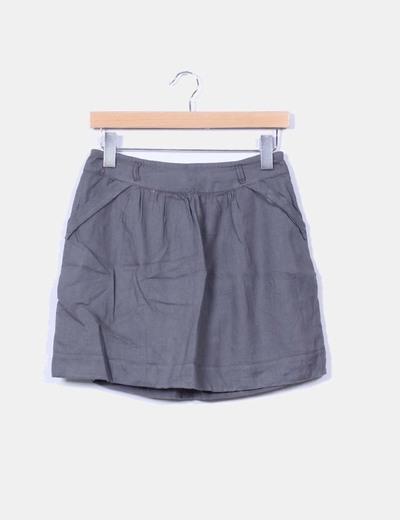 Mini falda gris evasé eseOese