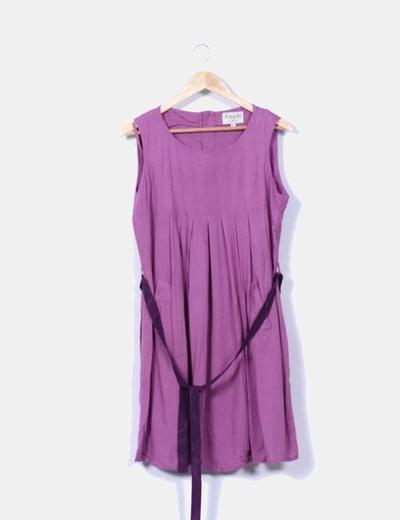 Vestido morado sin mangas Amichi