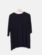 Camiseta negra básica oversize  Bershka
