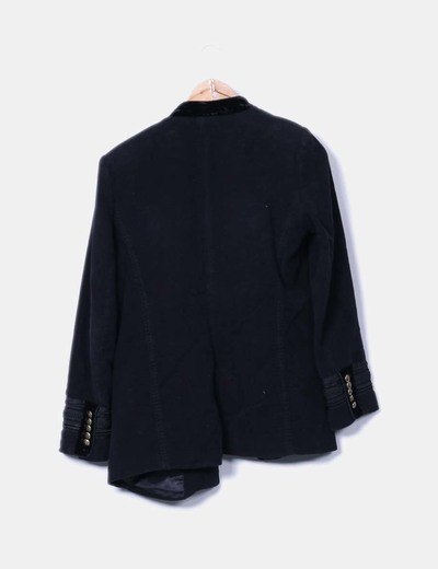 9bbc56ea29d Zara Casaca militar terciopelo negro (descuento 71%) - Micolet