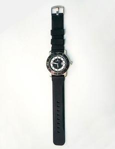 f7b9543bee5d Reloj inox. correa caucho negro Pertegaz
