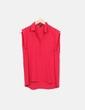Camisa fluida roja sin mangas Mango