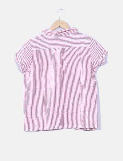 Camisa a rayas manga corta