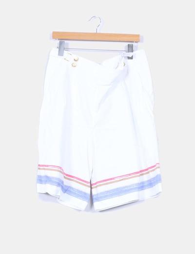 Bermuda blanca con rayas  Cortefiel