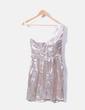 Vestido asimétrico plata irisado H&M