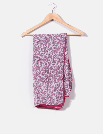 Foulard floral tonos rosas Suiteblanco