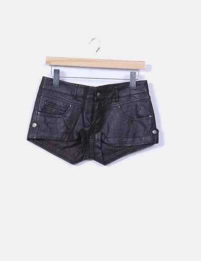Shorts polipiel marrón chocolate Foglie Rosse