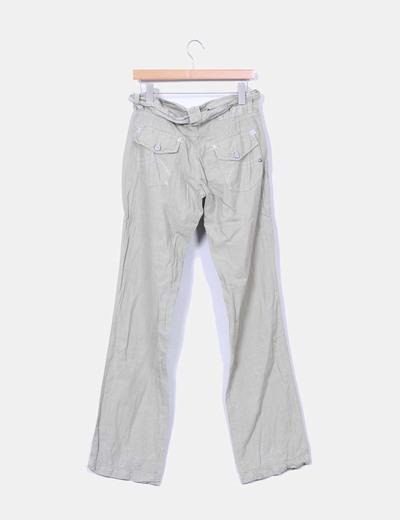 Pantalon recto de algodon