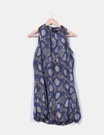 Vestido estampado print serpiente Suiteblanco