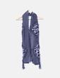 Foulard bleu avec mouchetures et avec motif plis Made in Italy
