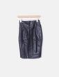 Falda tubo polipiel negro H&M