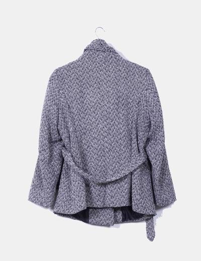 Abrigo bicolor doble botonadura