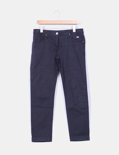 Pantalón azul marino Individual Woman