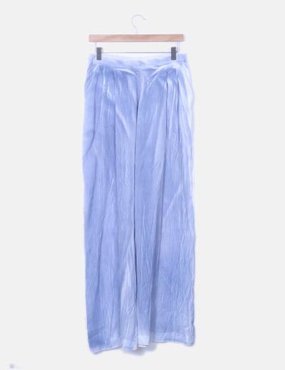 Pantalón baggy blanco y azul