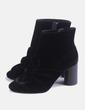 Botín negro velvet Zara