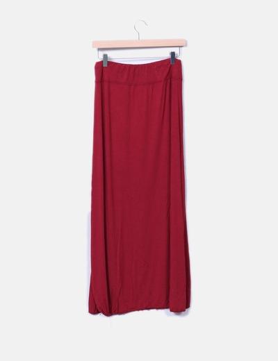 Falda maxi con aberturas en los laterales