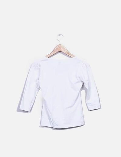 Camiseta blanca print bolso
