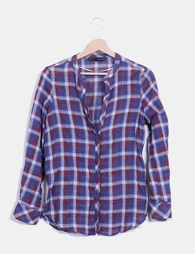 Camisa de cuadros fina Zara