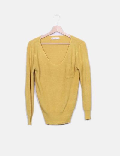 Jersey de punto amarillo Zara