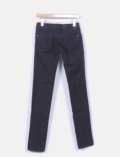Jeans denim negro pitillo