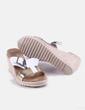 Sandalia de cuña blanca Toni Pons