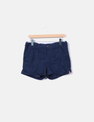 Textured dark blue shorts edc