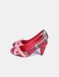 Zapato tacón texturizado estampado cuadros NoName