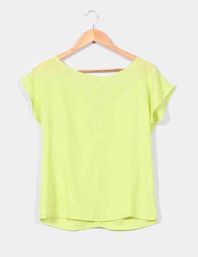 Blusa manga corta verde pistacho