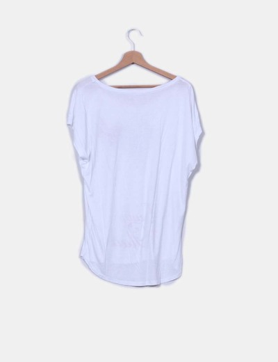 Camiseta blanca print beauty glam