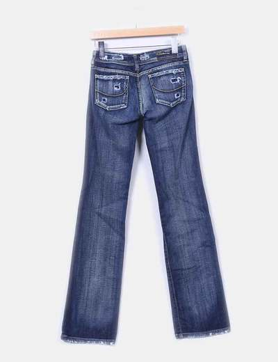 Jeans denim ripped azul oscuro