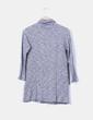 Vestido gris jaspeado cuello vuelto Zara