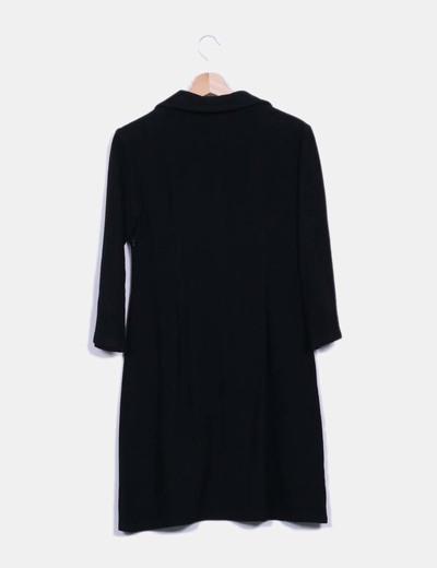 Vestido pano negro bordado