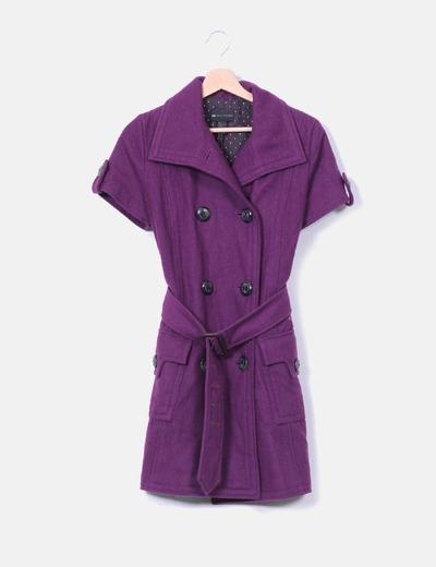 Abrigo manga corta
