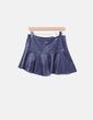 Saia de couro azul marinho Zara