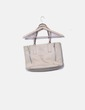 Ivory tote bag with zippers Gloria Ortiz